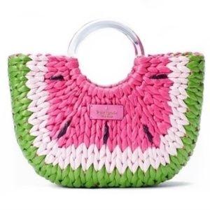 Kate Spade Picnic Perfect Watermelon Straw Pink Handbag NWT